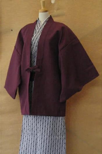 【10枚セット】旅館半天 ブッチャー生地 紫【業務用】