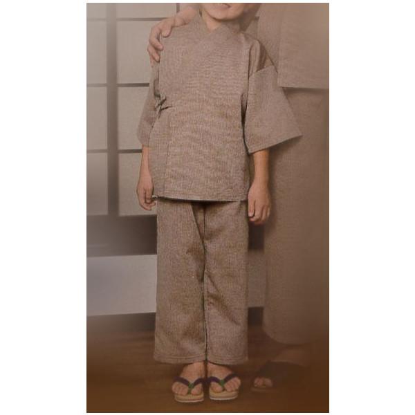 リネン対応 館内着作務衣 子供用 5枚セット【業務用】