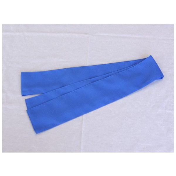 【受注後生産】【50本セット】日本製 子供用ゆかた帯 8×160cm ブルー【業務用】