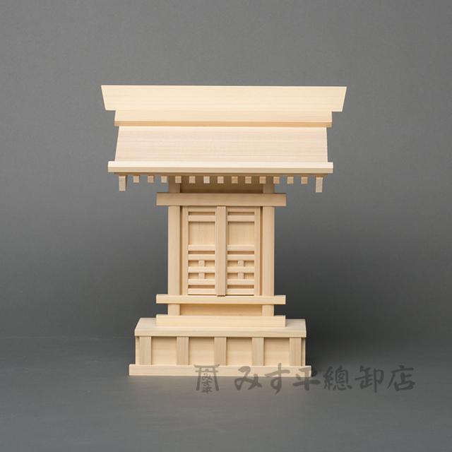 一社宮 5寸 神棚 一社 モダン デザイン シンプル 高級神棚 お宮 御宮 木曽桧 日本製 国産 職人手作り