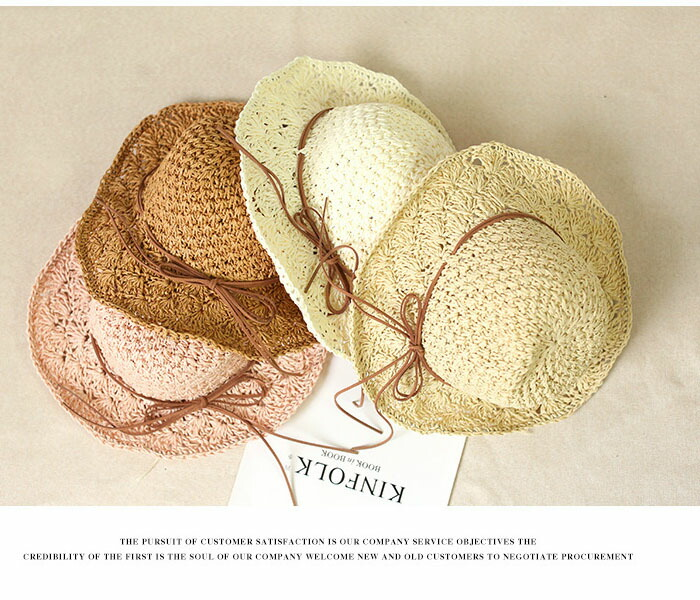 591ddbe6 ... Prevention of child KIDS hat straw hat broad-brimmed folding sunburn  hat hat of the ...