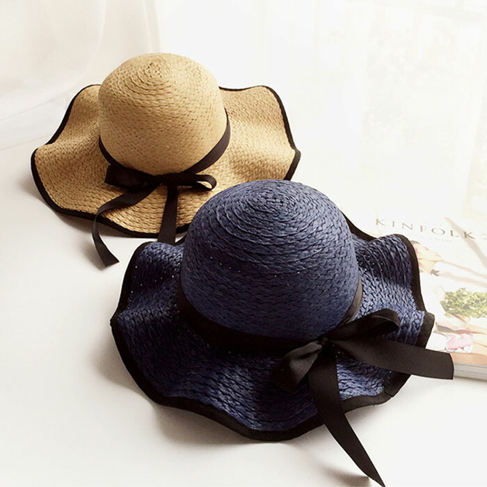 56fb6c5d Prevention of child KIDS hat straw hat broad-brimmed folding sunburn hat  Hattori Bonn of ...