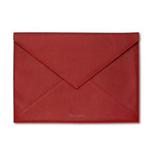 【Pineider】ピネイダー・CITY CHICコレクション ドキュメントケース ラージ A4サイズ Document case -envelope shaped - large 書類ケースボルドー ライトブルー送料無料 ラッピング無料