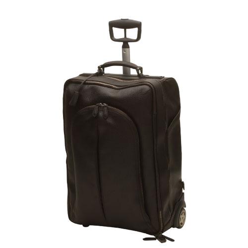 【アウトレット品】【Pineider】ピネイダー・1774コレクション-トロリーバッグ ブラック 黒檀 RUGATO CALFSKIN カバン スーツケース キャリーバッグ送料無料