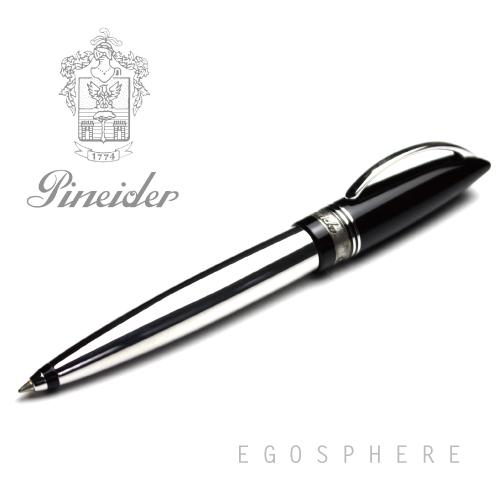 【アウトレット品】Pineider ピネイダー EGOSPHERE ネロ(ブラック)メタルボディ ボールペン ペン NERO 送料無料 エゴスフィア