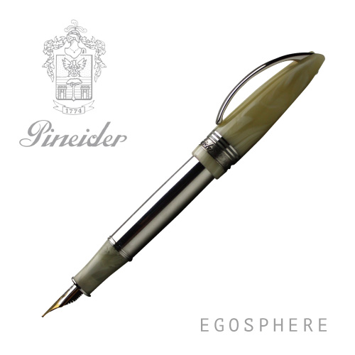 Pineider ピネイダー EGOSPHERE メタルボディ バニラ 万年筆 M ペン VANIGLIA 送料無料 ラッピング無料