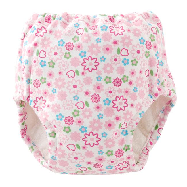 供一點防止漏掉的吸水層次5層狀結構女兒使用的尿床褲子(花紋)100cm小孩oneshopantsu