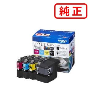 LC119/115-4PK 大容量タイプ 【4色セット】BROTHER ブラザー 純正インクカートリッジ