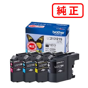 LC217/215-4PK 大容量タイプ 【4色セット】BROTHER ブラザー 純正インクカートリッジ