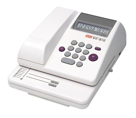 EC-510 電子チェックライタ MAX(マックス)印字桁数/最大10桁(金額) 【沖縄・離島 お届け不可】