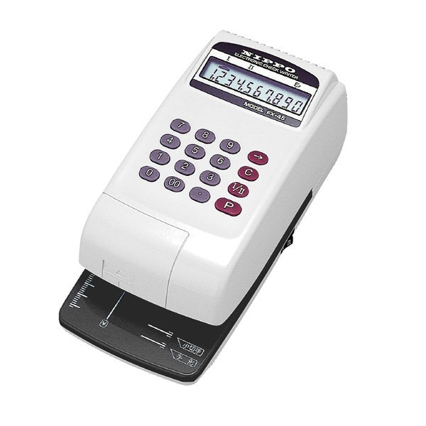 FX-45 電子式チェックライター(10桁) NIPPO(ニッポー) 【沖縄・離島 お届け不可】