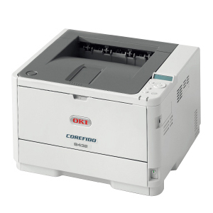 高解像度・充実機能のA4コンパクトモデル 【法人様限定】COREFIDO B432dnw 沖データ(OKI) モノクロLEDプリンタ