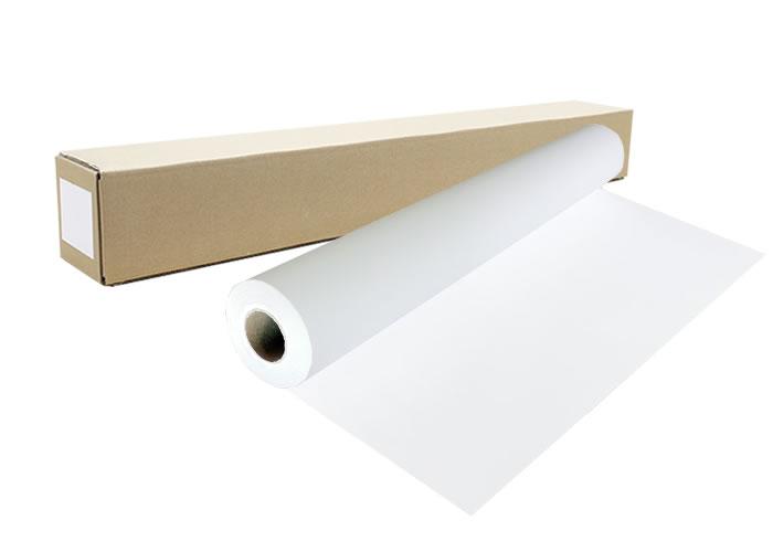 インクジェットロール紙 マット合成紙(グレー糊付)幅1118mm(B0ノビ)×長さ30m 厚0.157mm