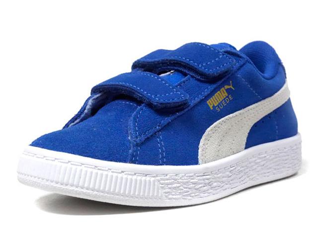 puma suede platform blu