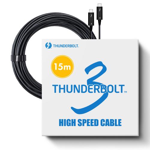 東証上場の安心企業 新品 Pasidal パシダル Thunderbolt3 Active Optical 40Gbps 光ケーブル サンダーボルト3 人気激安 Cable 最安値に挑戦 インテル認証品 15m