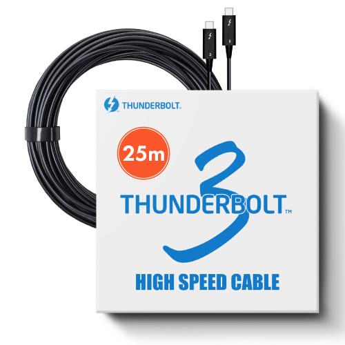 東証上場の安心企業 供え 新品 Pasidal パシダル Thunderbolt3 Active Optical 40Gbps インテル認証品 出色 サンダーボルト3 Cable 25m 光ケーブル