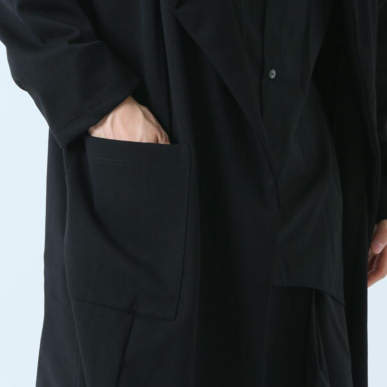カーディガン メンズ ロング ビッグシルエット モード系 コーディガン ショールカラー ガウンコート トッパー 日本製 黒 白 AS SUPER SONIC