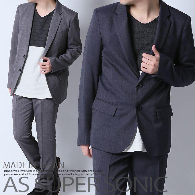 ジャケット メンズ テーラードジャケット 日本製 ブラック ネイビー AS SUPER SONIC