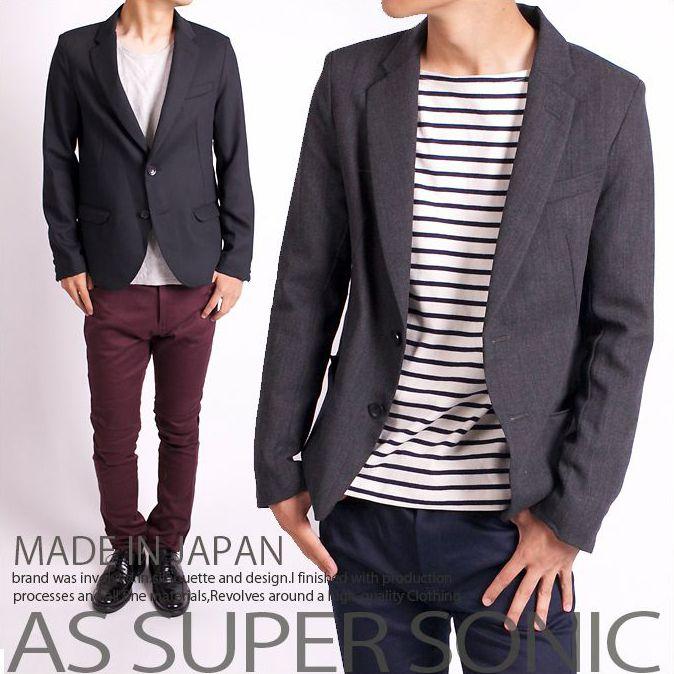 テーラードジャケット メンズ ショートジャケット 日本製 AS SUPER SONIC