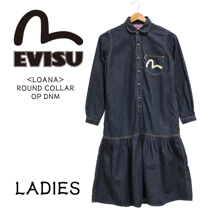 EVISU エヴィス ワンピース レディース ジーンズ デニム