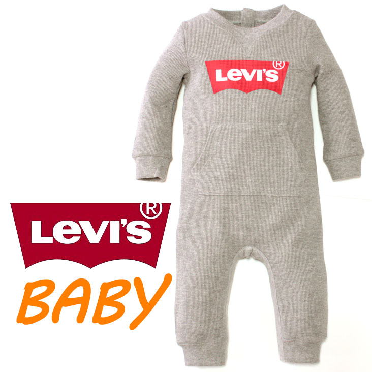 Child clothes cover oar rompers long sleeves logo of the overseas limited Levi's Levis BABY kids baby gift boy woman