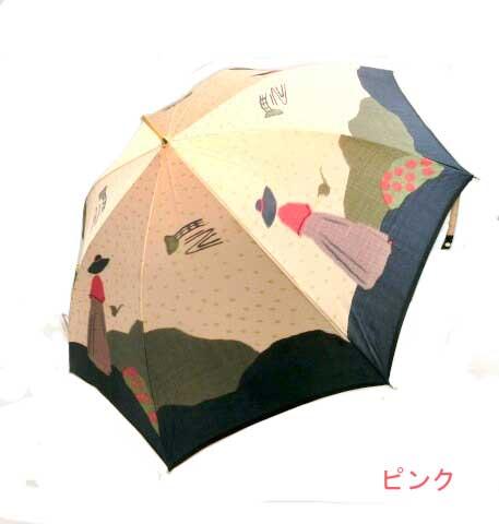 ♪ 日本製 最高級の逸品 婦人の花壇柄 タッセル付手元 ジャンプ傘 雨傘 長傘 ギフトにも