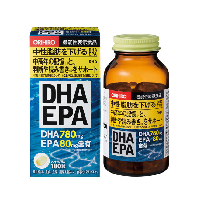 お得な5個組 オリヒロ DHA EPA 180粒 中高年サプリ代引きコンビニ受取不可