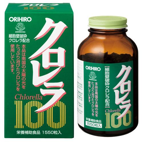 お得な 3個組 オリヒロ クロレラ100 JHFA認定 保存料 防腐剤 不使用 代引きコンビニ受取不可