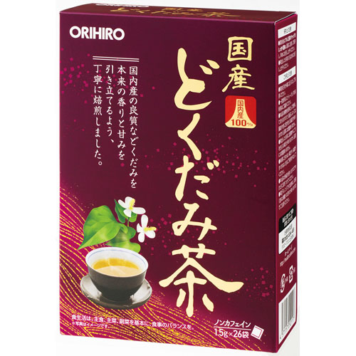 ティーバッグタイプ【コンビニ受取不可】 100% ノンカフェイン 16個組 どくだみ茶 国産 お得なまとめ買い オリヒロ 26包