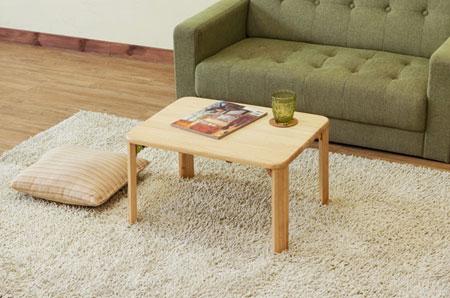 天然木 ラバーウッド 折りたたみ テーブル 60×45cm Natural wood rubber wood folding table 代引き沖縄・離島発送コンビニ受取不可