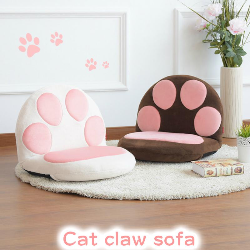 座椅子 ニャンコの手 肉球 子供 かわいい 子ども 子供 猫 ネコ ねこ 癒やしプレゼント 贈り物 コンパクト クッション 折りたたみ おしゃれ リクライニング ソファ 一人掛け チェア ソファ一 インテリア 座イス 座いす ギフト