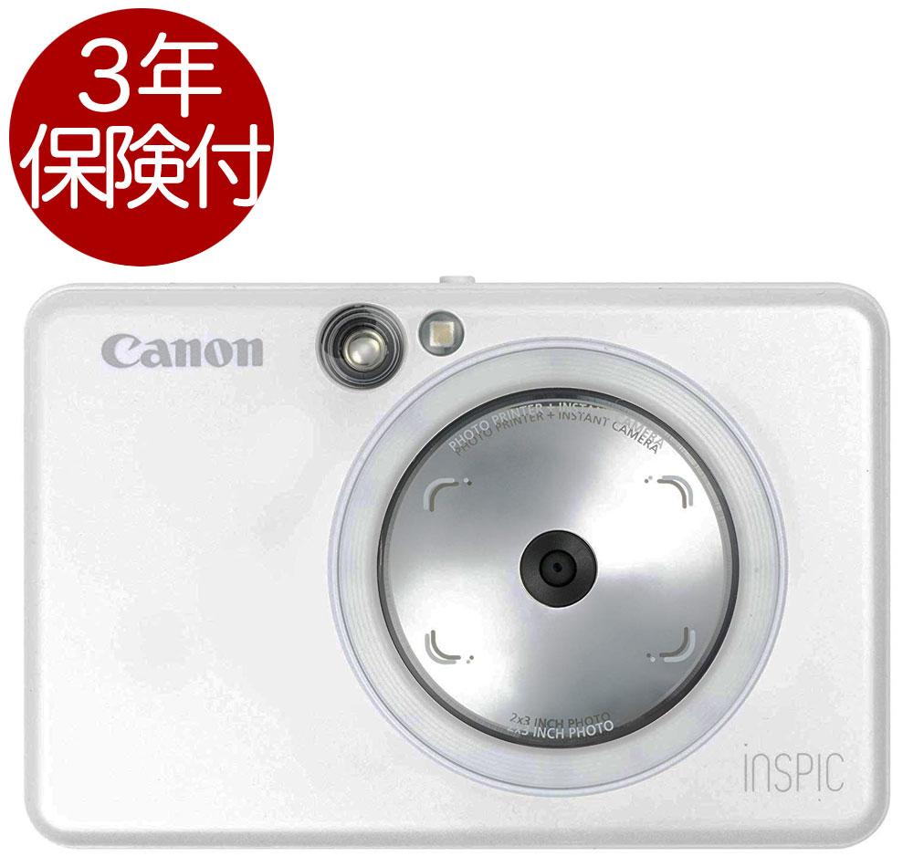 [3年保険付] Canon インスタントカメラプリンターiNSPiC ZV-123-PW パールホワイト[02P05Nov16]
