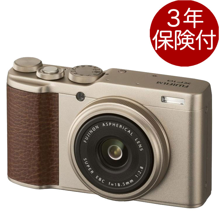 Fujifilm XF10 シャンパンゴールド『1~3営業日後の発送』APS-Cセンサー28mm単焦点レンズ搭載デジカメ[02P05Nov16]