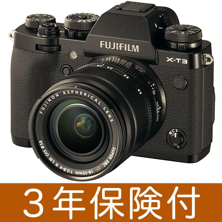 Fujifilm X-T3 ミラーレス一眼デジタルカメラ ブラックレンズキット[富士フィルム X-T3/XF18-55mmF2.8-4 R LM OIS] [02P05Nov16]