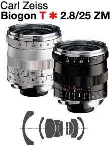 [3年保険付]【送料無料】Carl Zeiss Biogon T*F2.8/25mm ZM Mount Lens『シルバー色:即納可能分/ブラック色:納期未定予約』 [fs04gm][02P05Nov16]