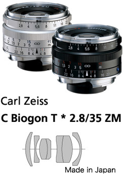 Carl Zeiss C-Biogon( クラシックビオゴン )T*F2 8/35mmZM Leica M mount Carl Zeiss lens  fs3gm