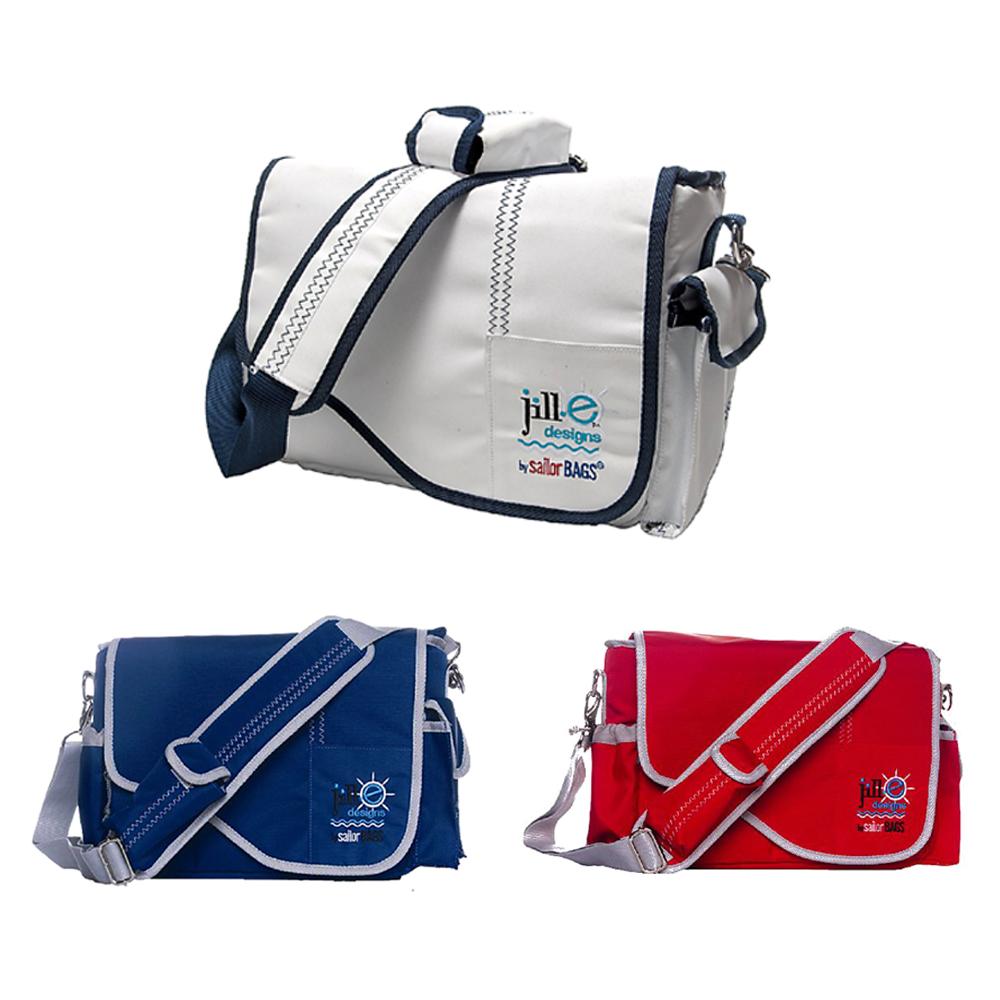 ジルイー セイルクロスメッセンジャーバッグ『即納~4営業日後の発送』 jill.e sailcloth messenger style carry-all bags 潮風香るマリン系スタイリングカメラバッグ[fs04gm][02P05Nov16]