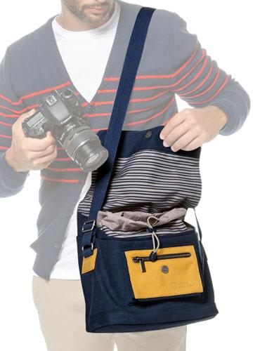 ナショナルジオグラフィック NG MC2350 地中海コレクション 小型メッセンジャーバッグ[一眼レフカメラ、タブレットなどの小物類の収納にオススメ!さわやかな地中海シリーズ小型ショルダーバッグ。]【smtb-TK】