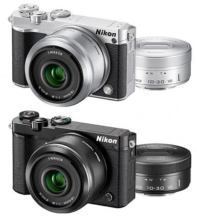"""[MicroSDHC 8 GB & camera bag with] Nikon1 J5 double lens Kit """"delivery-2 business days after shipping plans ' Nikon digital miracles SLR J5 Body + NIKKOR 1 18.5 mm f/1.8 + 1 NIKKOR VR 10-30 mm f/3.5-5.6PD-ZOOM large-aperture standard lens and zo"""