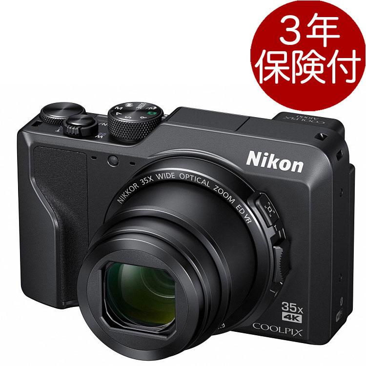 [3年保険付]Nikon COOLPIX A1000 ブラックコンパクトデジカメ デジタルカメラ黒色[02P05Nov16]