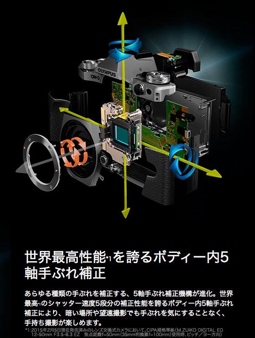 """奥林巴斯 OM D E M 5 Mark II 14 150 毫米第二透镜工具包""""交付 2 周 5 轴防抖校正与无反光镜的数码单反相机 EM5 MK2 身体 +M.ZUIKO 数字 ED12-50 毫米 F3.5-6.3EZ BLK 镜头套装 [fs04gm] [03P01Mar15]"""