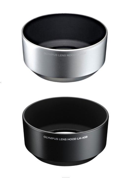 "Lens shade fs3gm for OLYMPUS lens hood LH-40B (silver / black) ""shipment"" M.ZUIKO DIGITAL 45mm F1 .8"