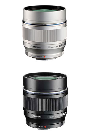 """An OLYMPUS M.ZUIKO DIGITAL ED75mmF1.8 (silver / black) """"shipment large diameter single focus telephoto lens three business days after immediate delivery ...."""" It is most suitable for portrait photography! fs3gm"""