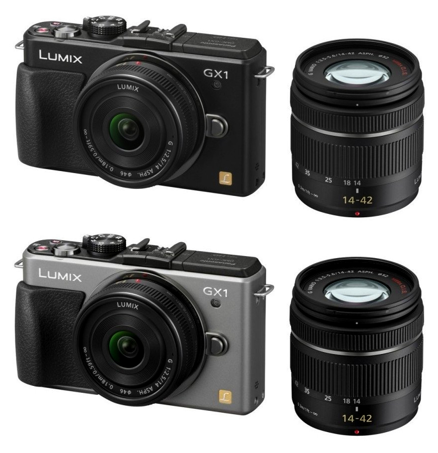 支持Panasonic LUMIX GX1雙透鏡配套元件DMC-GX1W-S銀子的fs3gm