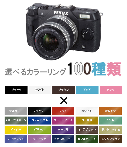 """Q10 PENTAX zoom lens Kit order colors (MTO) Q10 + 02 STANDARD ZOOM(5-15mmF2.8-4.5) """"delivery two weeks' [SLR zoom lens Kit's smallest color of your choice to choose from there are 100 kinds of color variations. ] [02P01Oct16]"""