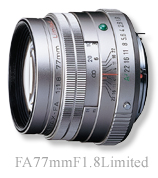"""[Three-year insurance] Pentax FA77mmF1.8 Limited Silver """"delivery TBD reserved], [fs04gm] [02P05Dec15]"""