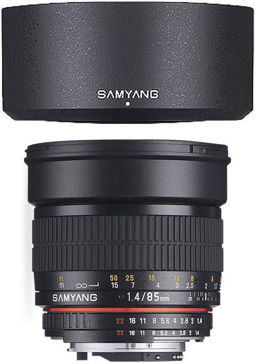 [3年保険付]【送料無料】SAMYANG 85mm F1.4『1~3営業日後の発送/マウントによって一時品薄次回納期1ヶ月ほど』ボケ味を活かせるポートレートレンズ[fs04gm][02P05Nov16]