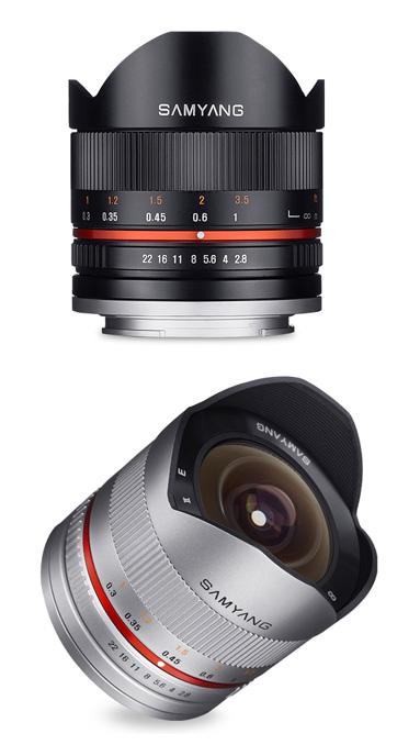 Samyang 8mm F2.8 UMC Fish-eye II フィッシュアイレンズ『~品薄次回納期未定』超コンパクトなミラーレス用魚眼マニュアルフォーカスレンズ【smtb-TK】[fs04gm][02P05Nov16]