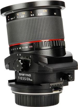 サムヤン T-S 24mm F/3.5 ED AS UMC Tilt/Shift Lens『即納~3営業日後の発送』建物撮影や料理撮影に最適の24mmティルトシフトレンズ[02P05Nov16]