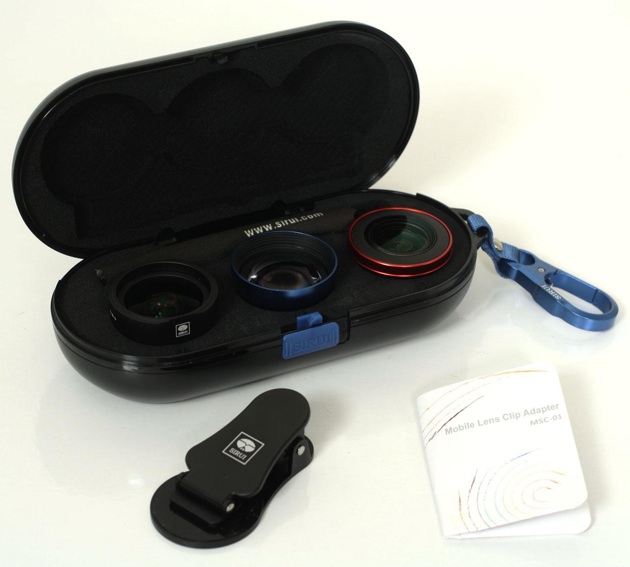 シルイ スマホ用高品質トリプルレンズキット ワイド+ポートレート+フィッシュアイ スマートフォン補助レンズセット WPF-01KBR+MSC-01 (レンズクリップ・ケース付)[02P05Nov16]